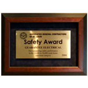 safety awards electrical construction guarantee electrical company